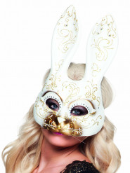 Mascherina veneziana coniglio adulto