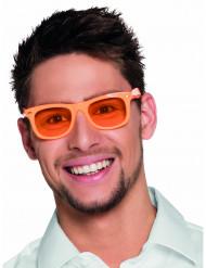Occhiali arancioni fluorescenti anni 50 adulti