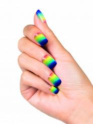 Unghie finte adesive arcobaleno