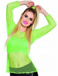 Maglietta fluo verde anni '80 donna