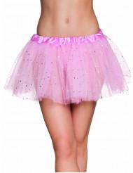Tutu rosa con stelline brillanti Donna