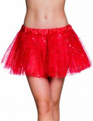 Tutu rosso scintillante donna