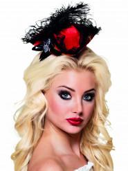 Mini cappello rosso pirata sexy donna