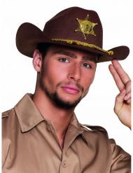 Cappello sceriffo marrone adulto