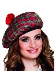 Berretto scozzese rosso adulto