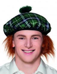 Berretto scozzese verde adulti
