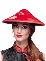 Cappello cinese rosso adulto