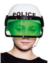 Casco polizia bianco bambino