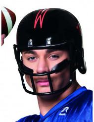 Casco giocatore di football americano nero