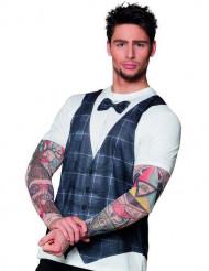 Maglietta hipster tatuato uomo