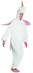 Costume da unicorno bianco e rosa per adolescente