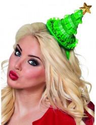 Mini cappello albero di Natale Donna