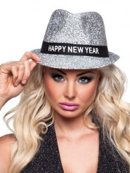 Cappello borsalino brillante Happy New Year adulto