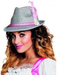 Cappello bavarese rosa adulto