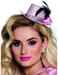Mini cappello rosa anni 20