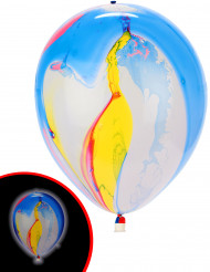 5 palloncini LED marmorizzati colorati Illooms™