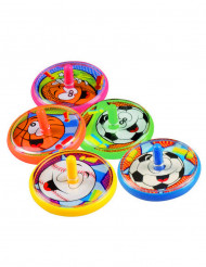 5 Trottole colorate sport 4 cm
