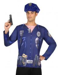 Maglietta polizia uomo