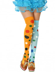 Calze multicolore clown donna