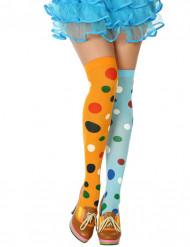 Calze multicolore clown donna