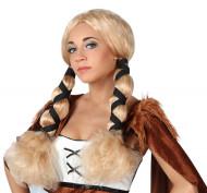 Parrucca bionda vichinga donna