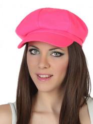 Cappello rosa fluo Adulto