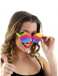occhiali anni '60 multicolore donna