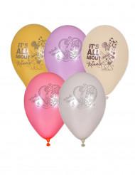 5 palloni Minnie™ 23 cm