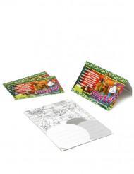 4 cartoncini per inviti Scooby-Doo™