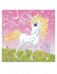 20 Tovaglioli di carta unicorno girly 30 cm