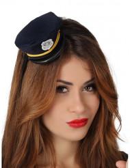 Mini cappello poliziotta donna