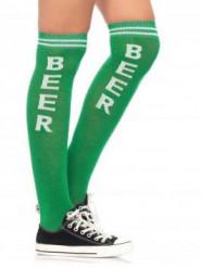 Calze lunghe verdi adulta Festa della birra