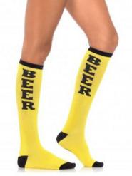 Calze lunghe gialle per adulto Festa della birra