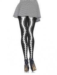 Collant scheletro curvo donna Halloween