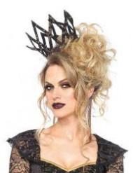 Corona imperiale nera e dorata da donna