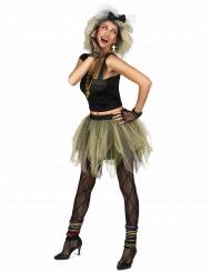 Costume disco rock tutu anni '80 donna