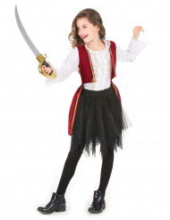 Costume da piratessa in velluto per bambina