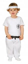 Costume da maestro ninja bianco per neonato