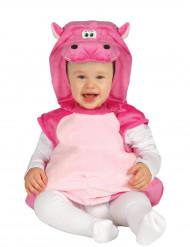Costume da ippopotamo rosa per neonato