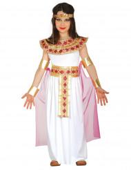 Costume da Antica Egizia rosa e dorato per bambina