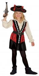 Costume capitano teschi bambina