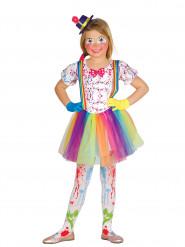 Costume da pagliaccio super colorato per bambina