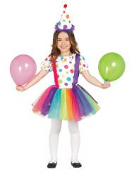 Costume da piccolo clown colorato per bambina
