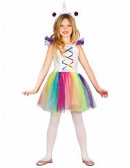 Costume miss unicorno bambina