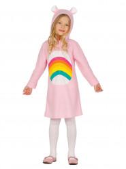 Costume arcobaleno con orecchiette per bambina