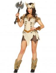 Costume viking beige sexy donna