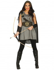 Costume arciere grigia donna