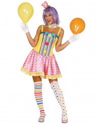 Costume clown pastello per donna
