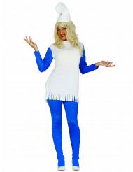 Costume vestito nano blu donna
