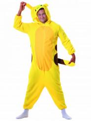 Costume da roditore giallo per adulto